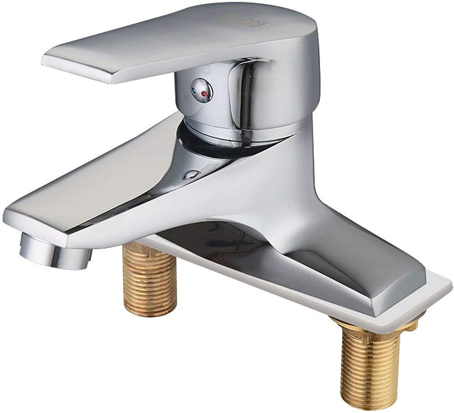 Oudan Washbasin with Two Holes Basin Faucet Hot and Cold Taps (color   -, Size   -)
