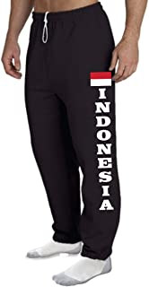 STUFF WITH ATTITUDE Indonesia Open Bottom Black Sweat Pants