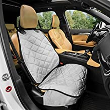 Plush Paws Products Copilot Bucket Car Seat Cover with Seat Belt and Harness (Gray) - USA Based