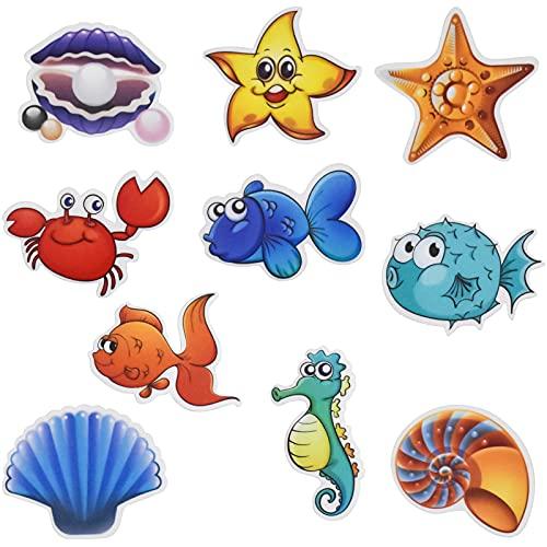 Pinsheng Adesivi Vasca Antiscivolo, Sea Creature Adesivi Antiscivolo per Vasca da Bagno per Il Bagno Antiscivolo per Bambini Adesivi per Vasca Adesivo Forte