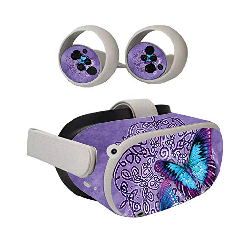MightySkins Skin Compatible with Oculus Quest 2 - Celtic Butterflies | Protective, Durable, and Unique Vinyl Decal wrap Cover | Easy to Apply, Remove, and Change Styles | Made in The USA