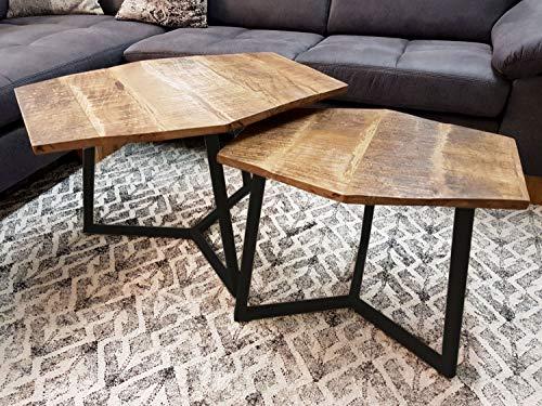 casamia DKL. Kitt 3 Paris - Juego de mesa de centro (2 unidades, estructura de metal), color negro
