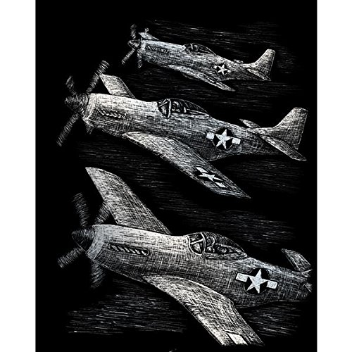 ROYAL BRUSH Silver Foil Engraving Art Kit, 8 by 10-Inch, Fighter Planes