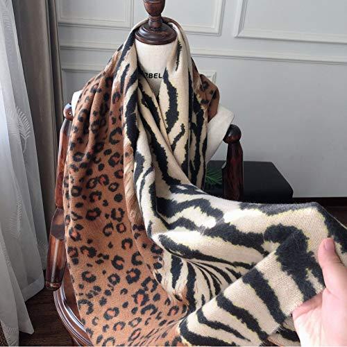 YCEOT sjaal Vrouwen Animal Print Mode Herfst en winter luipaard sjaal warme sjaal airconditioning handdoek unisex