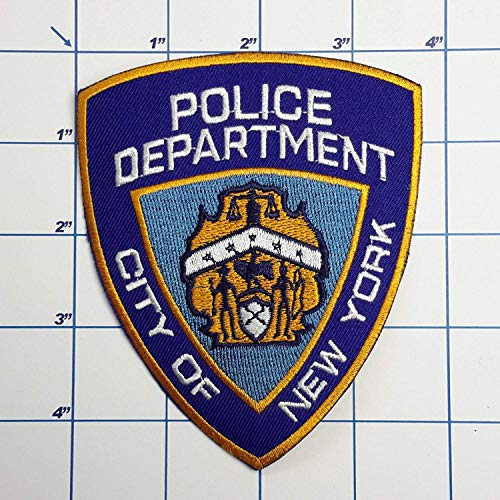 SNOW - 1 PC US Police Patches - Full Size Embroidered Iron-On Patch Series - New York Police Department