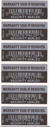 100x Seguridad Etiquetas Pegatinas garantía nula si quitar sellado de seguridad a prueba de manipulaciones