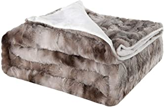 Bed Blankets Soft Flannel Blanket for Bed Couch Chair Daybed Soft Warm Elegant Cozy Fuzzy Fluffy Faux Fur Plush(Size: 127 ...