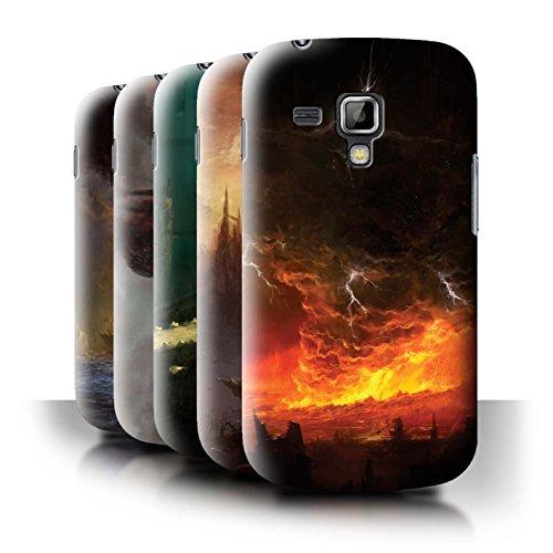 Oficial Chris Cold Carcasa/Funda/Case dura para el Samsung Galaxy Trend Plus/S7580 / serie: Tierra Caida - 8pcs Paquete