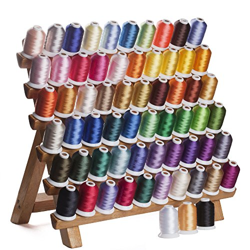 Best Bargain 63 Assorted Colors Polyester Embroidery Machine Thread Set (200 Meters Each)