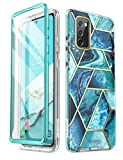 i-Blason Cosmo Case for Samsung Galaxy S20 FE 5G (2020 Release), Slim Stylish Protective Bumper Case with Built-in Screen Protector (Ocean)
