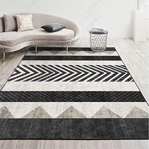 TANGYUAN rugs Living Room Large Small Rectangular Size - Living room carpet modern simple creative pattern stitching leisure exquisite easy care-140x200cm