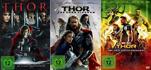 Marvel Studios Bundle - Thor + The Dark Kingdom + Tag der Entscheidung [3er DVD-Set]