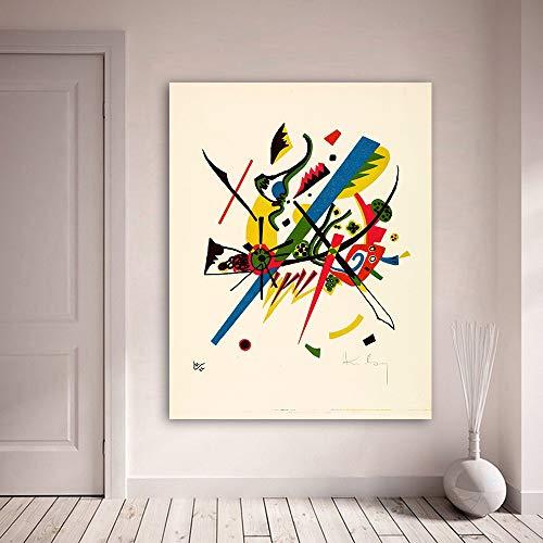 Rahmenlose ölgemälde Embelish Abstrakte Wandkunst Bilder Für Wohnzimmer Wassily Kandinsky Kleine Welten Wohnkultur Leinwand 30x40cm
