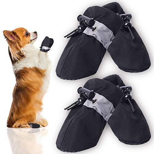 CALHNNA Dog Shoes for Hot Pavement -Dog Boots -Dog Shoes with Adjustable Straps,Anti-Slip and Prevent Dog Paw Burns, Suitable for Small Medium Dogs