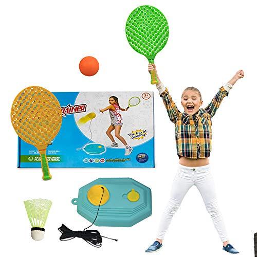 Tennis Training Equipment - Tennis Training Kit for Kids, Plastic Badminton Tennis Rackets Balls Set with Tennis, Table Tennis, Badminton Kids Toddlers Boys Girls Age 3 4 5 6 7 8 9 10 11 12 13 14 Year