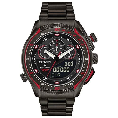 Citizen Promaster JW0137-51E Herren-Armbanduhr, Quarz, mit Edelstahlband, mehrfarbig, 24