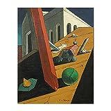 YYAYA.DS Impresión de Lienzo Famoso Giorgio De Chirico, el Genio Malvado de un Rey, Pintura para Sala de Estar, decoración del hogar, Pintura al óleo 60x90cm