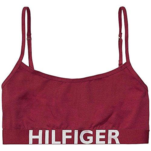Tommy Hilfiger Damen Cotton Bralette Iconic Bustier, Rot (Beet Red-Pt 610), 36 (Herstellergröße: SM)