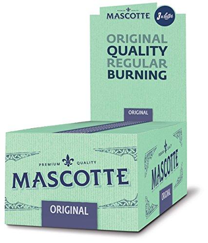 Mascotte Original Regular Kurzes Zigarettenpapier Premium Qualität 2 Boxen (100x Booklets)