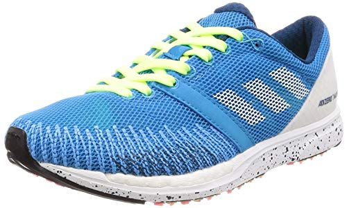 adidas Unisex Adult's Adizero Takumi Sen 5 Running Shoes, Blue (Shock Cyan/Ftwr White/Legend Marine), 12 UK