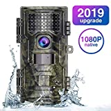 Trail Camera,Game Camera 2019 Upgraded 20M 1080P Hunting Camera with Night Vision Motion Activated Waterproof up to 70ft 0.2s Trigger Speed for Home Security Wildlife Animal Cameras