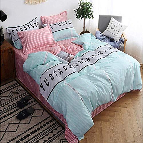 QWEASDZX Duvet Cover Bedding Digital Printing Duvet Cover Pillowcase Fresh and Comfortable Machine Washable 2.2m
