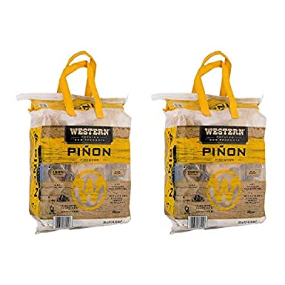 WESTERN BBQ Pinon Mini Log Wood Pellet Firewood for Camp Fires & Fireplaces