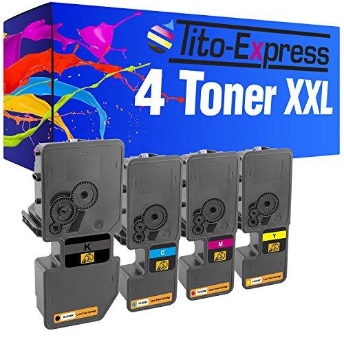 Tito-Express PlatinumSeries 4 Toner XXL Compatible con Kyocera TK-5230 ECOSYS M5521CDW M5521CDN P5021CDN P5021CDW | Black 2.600, Color 2.200 páginas