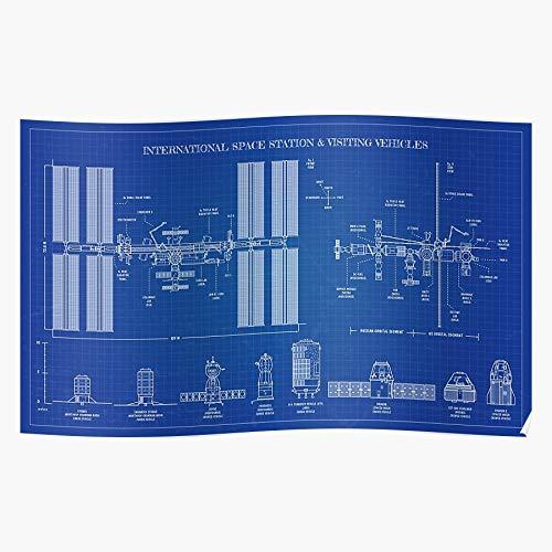 Generic Rockets NASA Blueprint Dragon Rapaz Soyuz Exploration Starliner Home Decor Wandkunst drucken Poster !