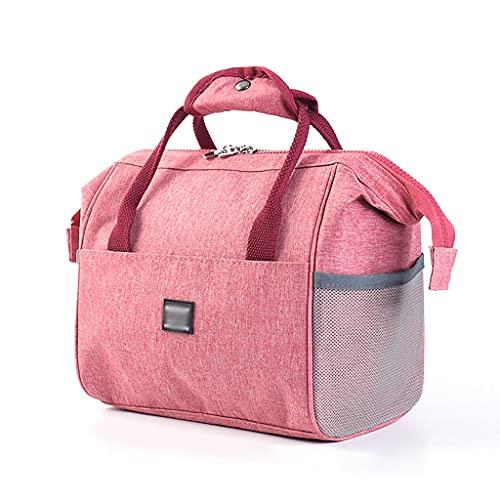 ZZL Almuerzo Aislado Bolsa de Asas Picnic Bolsos de Enfriador Portátil para Picnic Playa Camping BBQ (Color : Pink)
