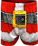 Briefly Stated Men's Santa Claus Boxers, Festive red, M