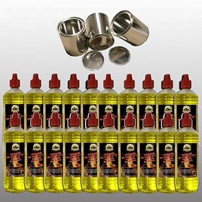 20 Liter Fuel Gel - 1 Litre Bottles Fuel Gel Cans + 3 In (Ever 0.5 L - Blank)