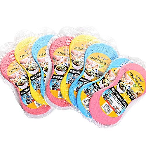 Esponja De Lavado De Coches Multifuncional Esponja De Limpieza Para Coche Cepillo De Esponja De Gran Tamaño Esponja Jumbo Para El Cuidado Del Automóvil,pintura,llantas,limpieza 8piezas Color Aleatorio