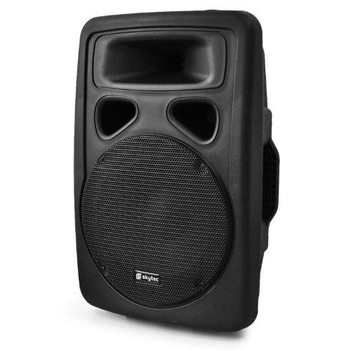 Skytec Cassa attiva acustica amplificata diffusore DJ PA (400 Watt, a 2 vie, struttura in ABS, 1 x MIC IN)