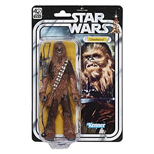 Star Wars–Black Series 40Jahrestag Figur, 27.7x 18.2x 4.9cm, Mehrfarbig (Hasbro) Chewbacca 27.7 x 18.2 x 4.9 cm bunt