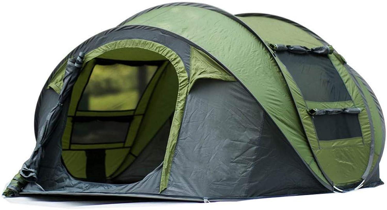 JHR Zelt Wasserdichte Instant-Zelt-Einrichtung 3-4 Personen Wasserdichte Uv-Schutz Camping Shelter Outdoor Camping Wandern Zelt