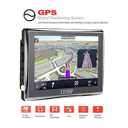 LESHP Europe Traffic Auto GPS Navigation 5 Zoll Touchscreen mit FM 8GB / 128M für Europa für das Leben