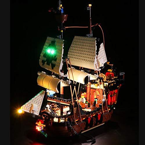 XW Luz De Bloque De Construcción LED para El Modelo De Barco Pirata - Kit De Luz USB Compatible con Lego 31109 - No Incluye Modelo Lego