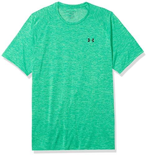 Under Armour Men's Tech 2.0 Short Sleeve T-Shirt , Vapor Green (299)/Black , Large