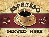 New Vintage Retro Metal Tin Sign Espresso Coffee Cafe Kitchen Outdoor Garage Street & Home Bar Club Retaurant Wall Decor Signs 12X8 Inch