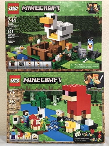 LEGO Minecraft The Wool Farm Bundled Minecraft The Chicken Coop