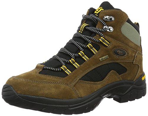 Brütting Uniseks Chimney Rock buty trekkingowe i do wędrówek, Brązowy, czarny, żółty - 43 EU