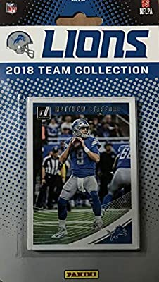 Detroit Lions 2018 Donruss Factory Sealed NFL Football Complete Mint 12 Card Team Set with Matthew Stafford, Barry Sanders, Kerryon Johnson Rookie card plus