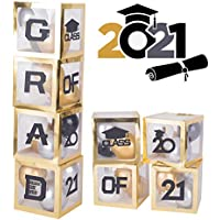 Misbest 4-Pieces 2021 Graduation Decorations Balloons Box