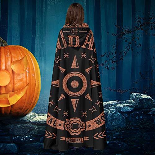 NULLYTG Dig-imon - Disfraz de caballero bruja con capucha para disfraz de vampiros con escudo de coraje, unisex, para Navidad, Halloween, disfraz de cosplay