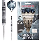 Unicorn Darts Men's Silver Star Michael Smith Darts, White, Size 22G