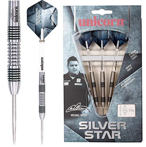 Unicorn Silver Star Michael Smith Steel Dart, 80% Tungsten, 22g