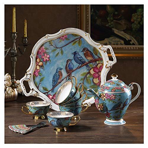 Mokken European Style Thee Cup en Saucer Set, Bone China Water Ware Afternoon Tea, Exquisite Koffiekopje, Geschikt voor familie en restaurant Gebruik 211.6 oz Koffiekop