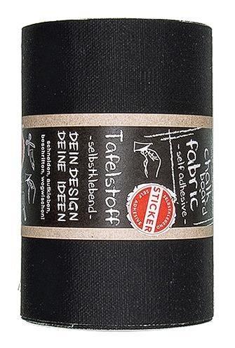 efco 3464812 Tafelstoff, selbstklebend, Schwarz, 12 cm x 3 M