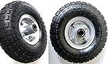 S+S?Neumáticos de aire, 2unidades, llanta de acero 4,10/3,50-4, diámetro de 260mm para carretas, carretillas, carros